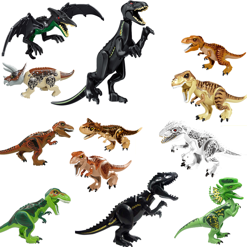 Jurassic World Brutal Raptor Building Blocks Jurrassic World 2 Dinosaur Figures Bricks Toys For Children Compatible with Legoing