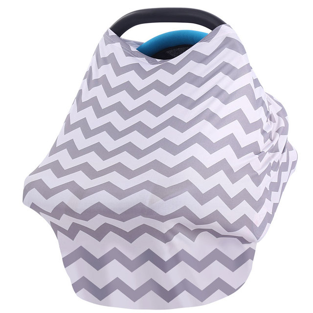 Baby Car Seat Cover Canpany Nursing Breast feeding Cover Multi-Use Stretchy Infinity Scarf Shopping Cart baby  High Chair Cover 4