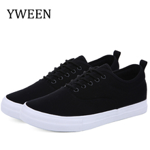 YWEEN Mens Sneakers Lace-Up Classic Style Breathable Canvas Shoes Men Vulcanized