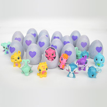 2017 Hot Magic Surprise Egg Hatching Colorful Dinosaur Animal Eggs Cracks Grow Eggs Color Change Toys