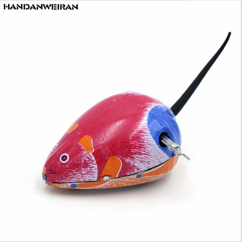 2019 New 1PcsKids Classic Tin Wind Up  metal mouse clockwork toy jumping nostalgia classics  toys for children's novelty toy