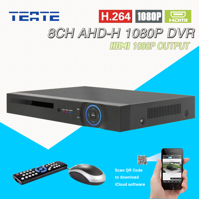 TEATE CCTV 8ch AHD 1080P HD surveillance DVR NVR 8 channel AHD-H HDMI Standalone security 3G WIFI video recorder T-G08D10PB02 2016 cctv 8ch 720p dvr h 264 recorder ahd 8 channel cctv dvr 8 ch 720p network video recorder surveillance security dvr 3g wifi