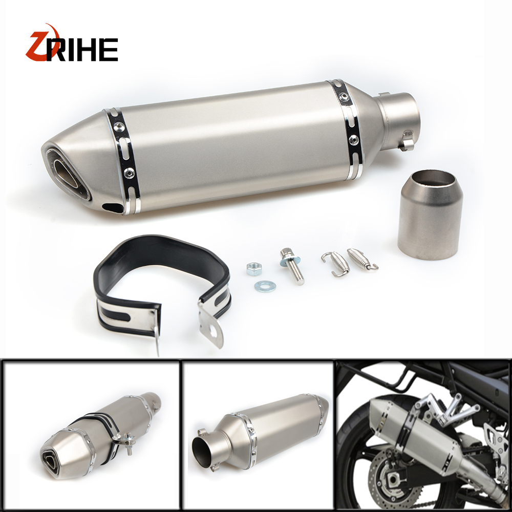 Universal 36-61 Motorcycle Exhaust Pipe Modified Muffler PipeFor Yamaha yzf r1 /yzf R1M YZF R1 fazer 600/ FZ6S FZ6N fz new arrival black tempered plastic motorcycle rear tail section cowl fairing cover for yamaha fz6n fz6s fz 6n 6s fz 6n fz 6s