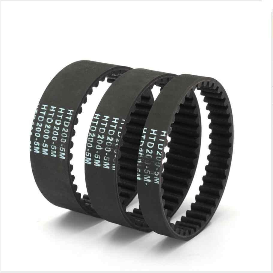 DuoWeiSi HTD5M koło rozrządu pas 200-250mm obwód 10/15/20mm szerokość gumowy pierścień pas HTD5M-200 HTD5M-250 HTD-5M 3D drukarki