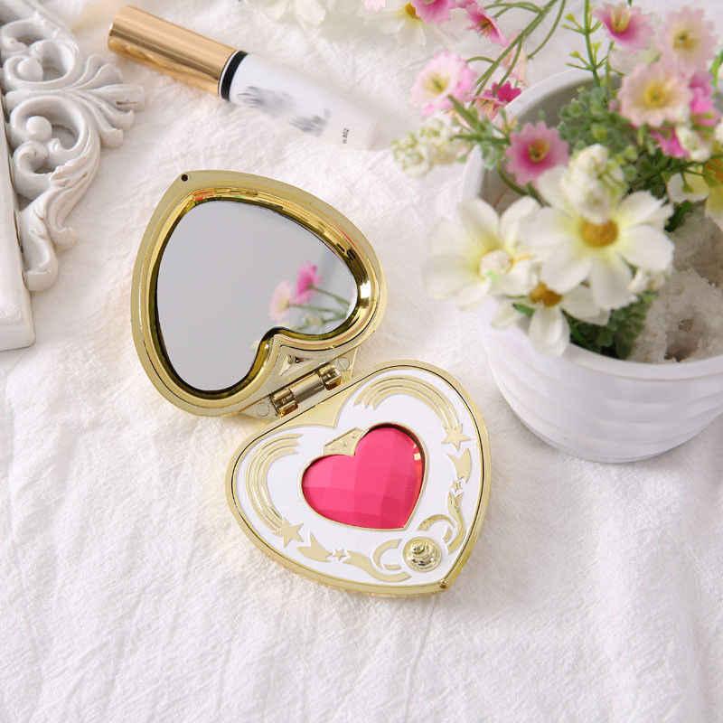 Аниме Сейлор Мун Кристалл розовое сердце макияж зеркальная Коробка Чехол компактное зеркало Чиби Мун Косплей пластиковый держатель женская косметика, подарочная