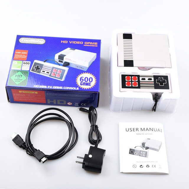 HD Mini Retro Console Support HDMI&AV TV Handheld Game Player Video Game Console To TV With 600/500 games Built-in