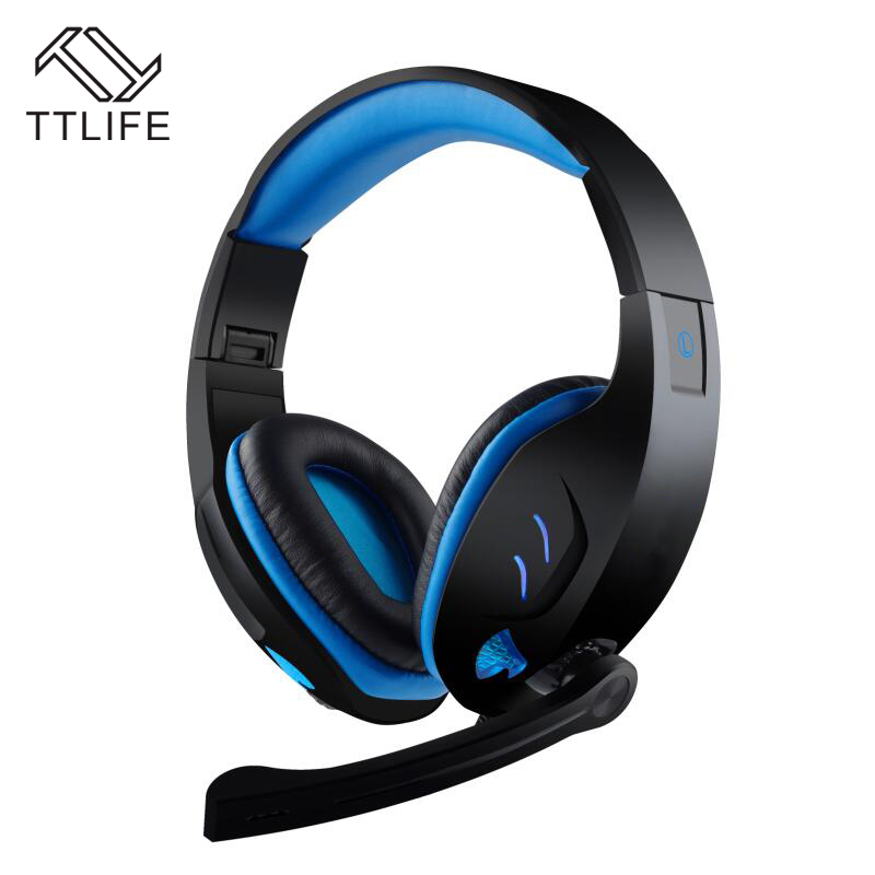 все цены на Fashion TTLIFE Brand Volume Control Noise Cancelling Mic Earphone 7.1 Surround Sound Channel USB Gaming Headset Wired Headphone