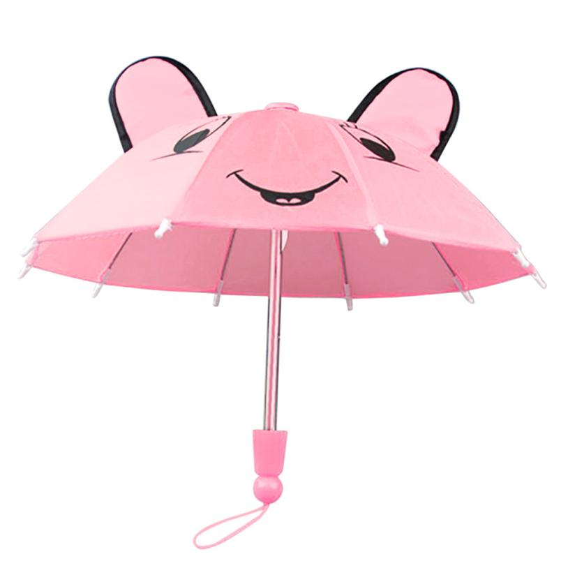 2018 Umbrella Accessories For 18 Inch American Girl /Baby Born Dolls Handmade Outdoor Gift Toys Accessoriesfor Children G0363