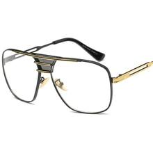 Sunshine Star New Oversized Square Women Clear lens glasses Metal frame Fashion Men Glasses Vintage Oculos Luxury Spectacles