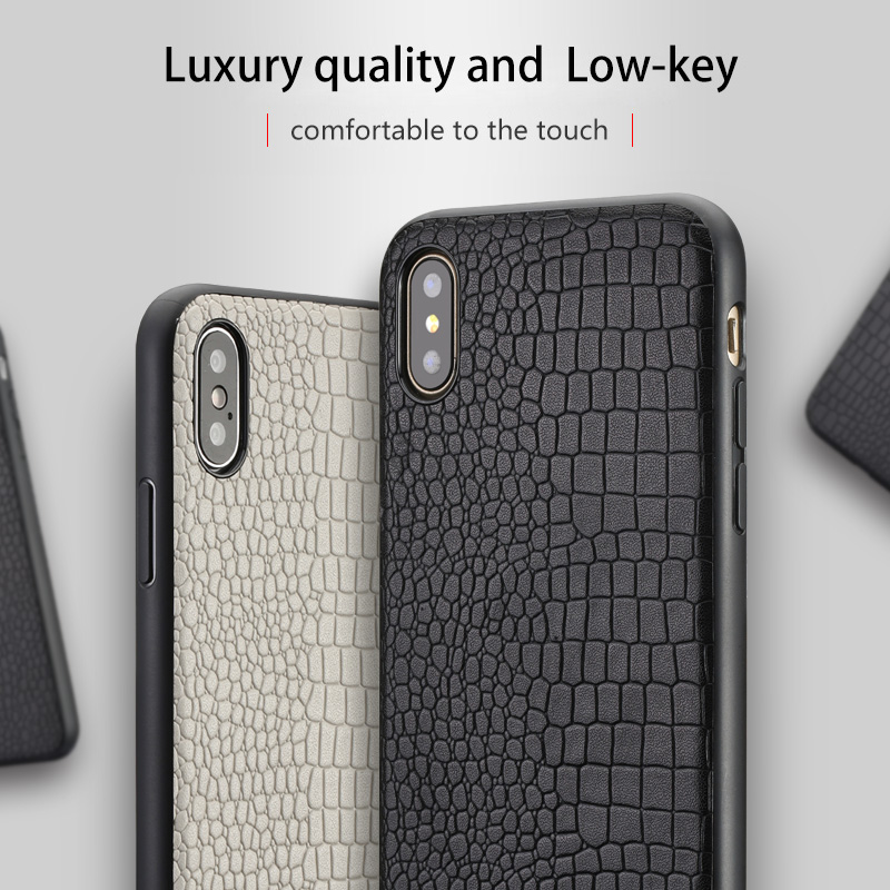 Crocodile Grain Genuine Leather phone case for Apple iPhone X 11 11 Pro Max XS XS max XR 6 6s 7 8 plus 360 Full protective cover in Fitted Cases from Cellphones Telecommunications