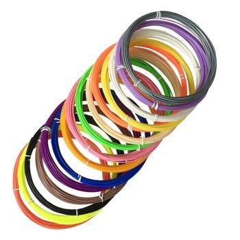 20 colors 100m 3D printer filament ABS 1.75 mm plastic material for 3D pen doodler drawing and printing DIY threads 3D Printing Materials