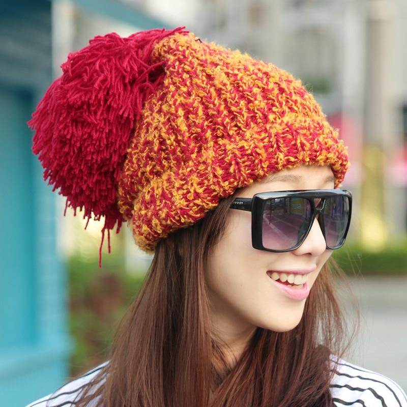̀ •́ Bomhcs alta calidad moda invierno mujeres caliente de ganchillo ...