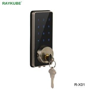 Image 3 - RAYKUBE قفل الباب الالكتروني كلمة السر رمز بلوتوث APP فتح اللمس لوحة المفاتيح التحكم في الوصول قفل لأمن الوطن