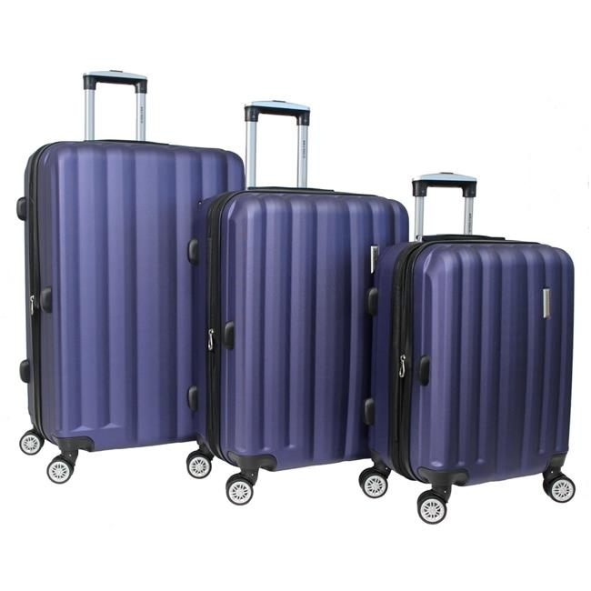 World Traveler WT5000-NAVY Adventure Hardside Spinner Luggage Set Navy - 3 Piece alcott traveler adventure pet leash medium orange