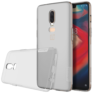 1+6 Oneplus 6 Case NILLKIN Ultra Thin Transparent Nature TPU Capa For Oneplus 6 5 5T Case Clear Soft Back Cover For One plus 6
