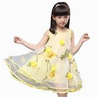 2017 Summer Clothes For Teen Girls Baby Kids 3D Flower Party Dress Children S Gown Dress