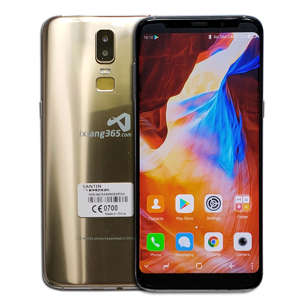 Face ID Touch ID Super Big Screen 16MP Smartphone 18 9 6 0 SANTIN ix365 4GB