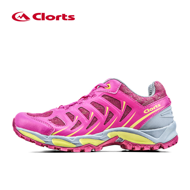 Clorts Sports Shoes For Women Summer Breathable Running Shoes PU Mesh Trail Shoes Outdoor Running Women Shoes Sneakers 3F021C/D kelme children white black smooth soccer shoes pu broken nail outdoor running sneakers k15s936