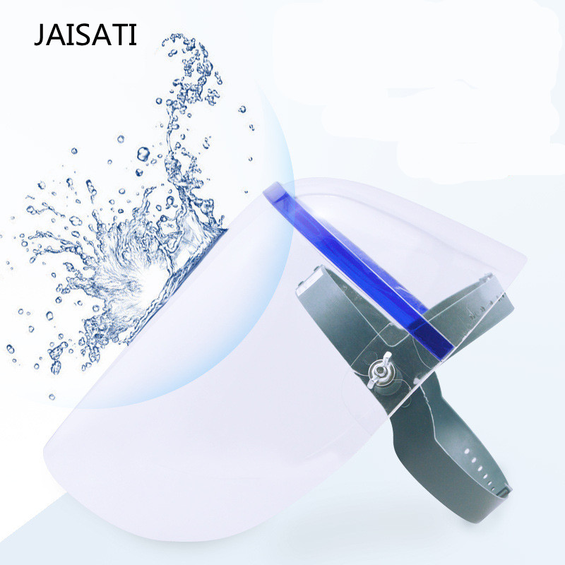 JAISATI Transparent protective anti - oil splash welding mask headset plexiglass protective masks jaisati transparent dust proof welding hood headset mask abor protection protection surface screen splash mask