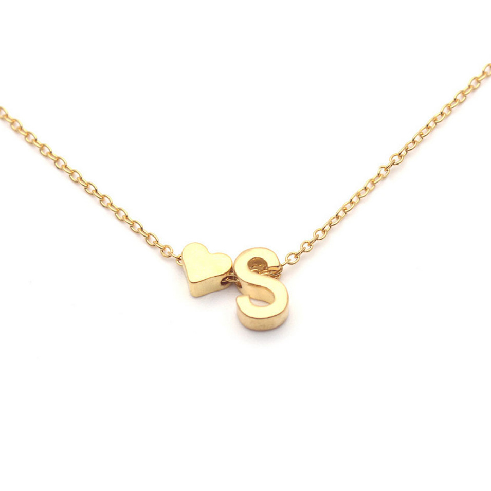 2019 New Tiny Dainty Heart Initial Necklace Personalized Letter Necklace Name Jewelry For Women Accessories Girlfriend Gift
