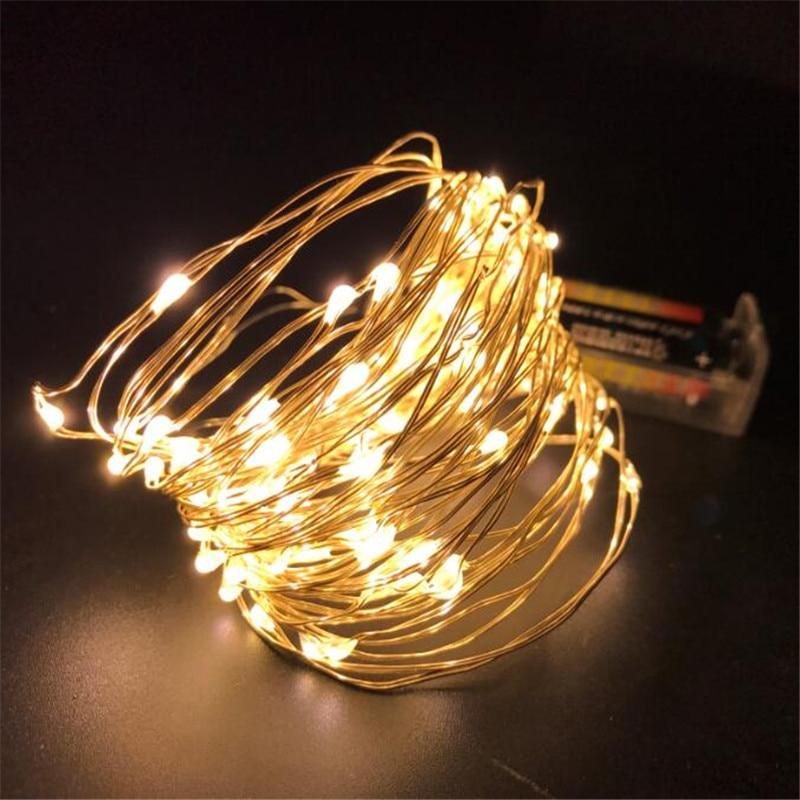 10 Mt Kupferdraht Led String Lichter Wasserdicht Urlaub Led Streifen Beleuchtung Für Fee Weihnachten Baum Hochzeit Party Dekoration Lampe