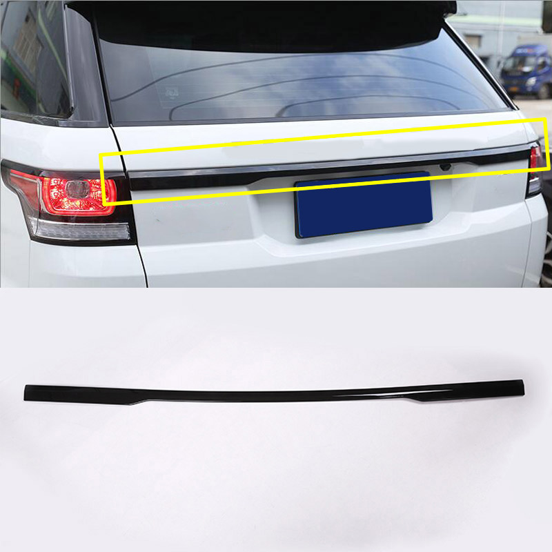 Gloss Black Chrome Car Accessories For Range Rover Sport 2014 2015 2016 2017 Rear Trunk Lid Cover Trim RR Sport hottop 1 pcs for toyota rav4 2013 2014 chrome rear trunk lid cover trim