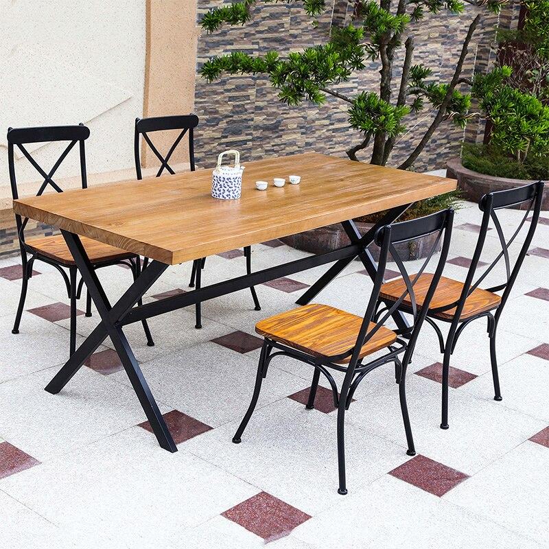 tienda online mesa de comedor mesa de centro de madera para hacer los viejos antiguos desk vintage pas americano continental montado comedor aliexpress