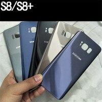 Für Samsung Galaxy S8 S8 + Zurück Batterie Abdeckung Fall 3D Glas Hinten Gehäuse Abdeckung Ersatz für Samsung Galaxy S8 plus