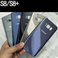 Para Samsung Galaxy S8 S8 + tapa de la batería 3D de vidrio carcasa trasera cubierta de reemplazo para Samsung Galaxy S8 plus