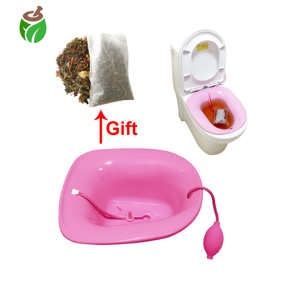 1 PC medical Yoni steam seat steamer vagina douche chairs steaming kit vagina cleaning yoni care with steaming herbs inside-in Feminine Hygiene Product from Beauty & Health