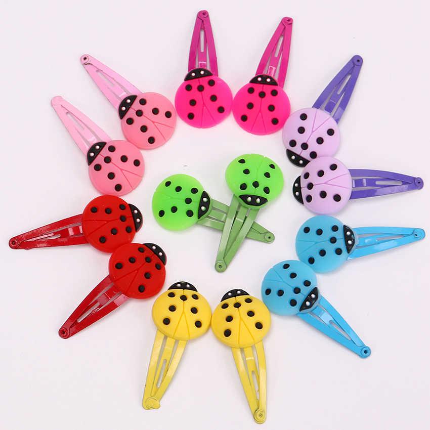 10 個子供新シリコーンヘアクリップかわいいフルーツの花安全バレッタ bb クリップ女の子ギフト子供ヘアアクセサリー