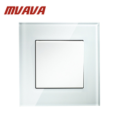 MVAVA push button Electrical wall switch,1 gang 1 way,16A 250V,Luxury Crystal glass panel,Factory direct sale,Free Shipping!