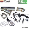 """2.5"""" Elextric Exhaust Catback Cutout/E-cutout W/Switch Valve System Kit+ Remote EP-CUT2Y25"""