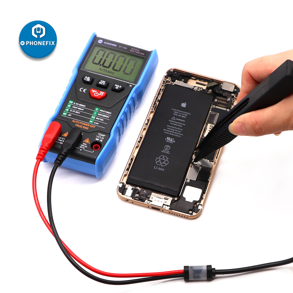 SMD Chip Test Lead Meter Probe Multimeter Tweezer Banana Plug Test Clip For Multimeter Capacitor Resistance Tester