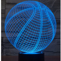 3D LED Nachtverlichting Basketbal met 7 Kleuren Licht voor Woondecoratie Lamp Verbazingwekkende Visualisatie Optische Illusie Awesome