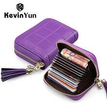 Kevin yun designer marke frauen kartenhalter leder kreditausweis tasche