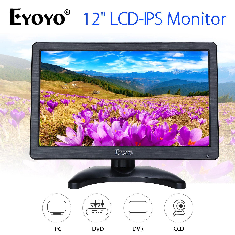 EYOYO H1116 12HD 1920x1080 IPS LCD Security Monitor BNC USB HDMl VGA Screen Input Audio Video Display For DVD CCTV DVR Home
