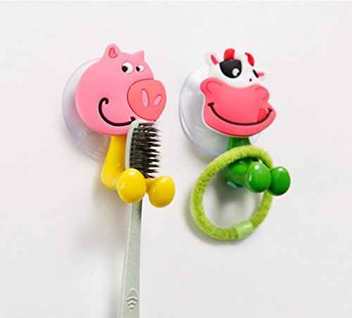 2019 Wall Mounted Heavy Duty Suction Cup Antibacterial Toothbrush Holder Hooks Set Toothpaste Suction Cup Holder for bathroom in Toothbrush Toothpaste Holders from Home Garden