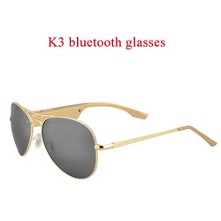 new k3a  bluetooth glasses polarized intelligent gloden black  glasses with bluetooth 4.1 headset for driving songs called