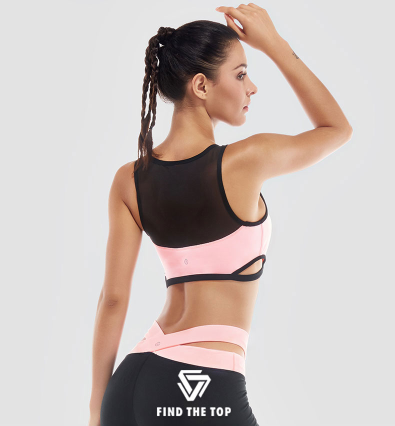 VANSYDICAL 2017 Women Sports Bras Running Push Up Sexy Stretch Yoga Top Fitness Women Sports Top for Yoga Sportswear Underwear M 10