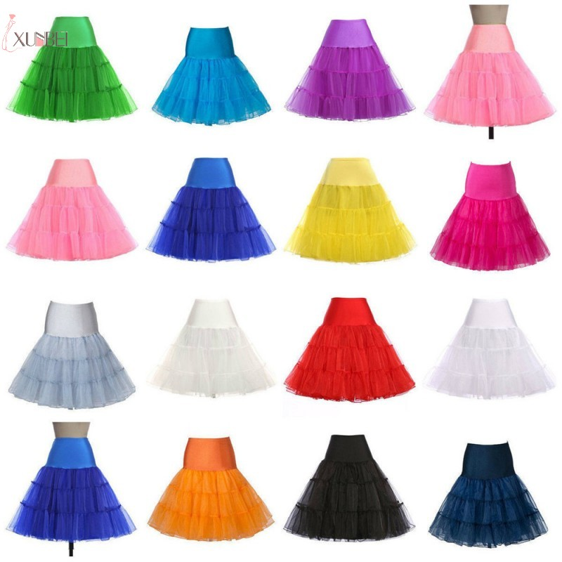 Vintage Short Wedding Petticoat 50s Retro Underskirt Swing Rockabilly Fancy Adult Tutu Skirt Wedding Accessories Jupon Femme