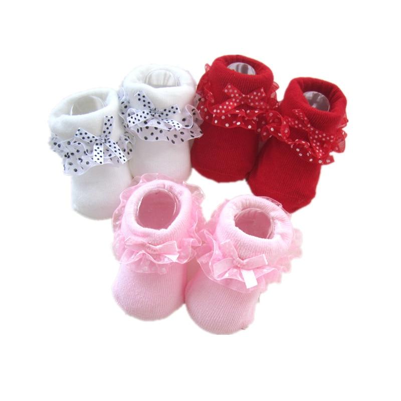 Lawadka One Size Sock Baby Girls Ruffle Socks Newborn Infant Socks Autumn Winter Baby Girl Clothes Accessories 0-12Month