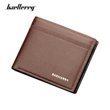 Baellerry Luxury Korean Style Men Wallets PU Short Card Holder Male Purse High Quality Money Bags Wallet For Men