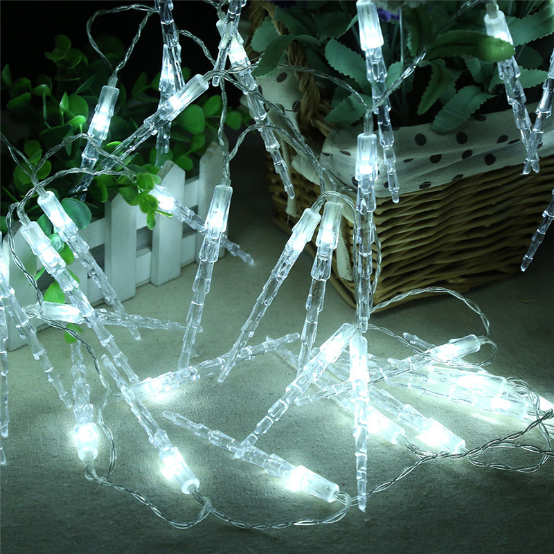 Hot Sale in 2017 White 20 LED Window Curtain Lights String Lamp House Party Decor Striking Christmas Home Garden Decoration