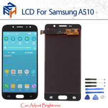 LCD For Samsung Galaxy A510 A5 2016 A510F A510M Display Touch Screen Digitizer Assembly A510FD Adjust brightness Replacement(China)