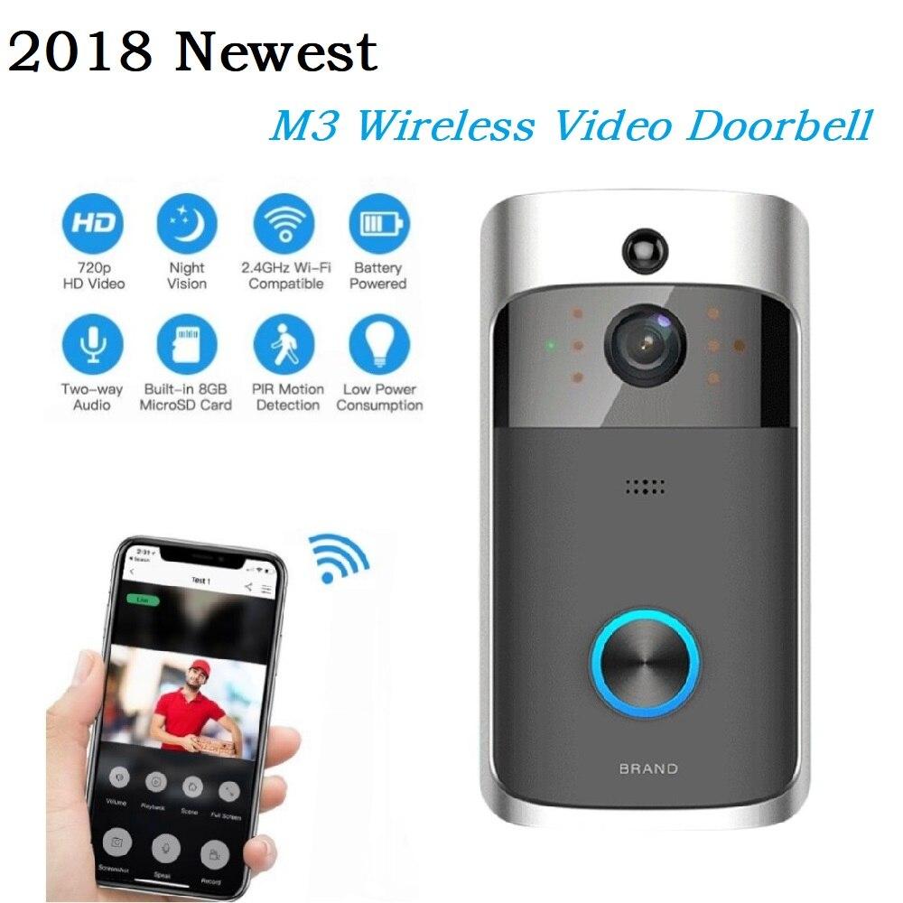 2018 Новый M3 Беспроводной видео звонок WI-FI удаленного Интерком дверной Звонок электронный дома мониторинга безопасности Ночное видение домо...
