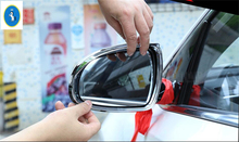 Yimaautotrims For KIA Sportage 2016 2017 2018 ABS Rearview Mirror Rain Eyelid Eyebrow Protector Frame Cover Stickers Trim 2 PCS