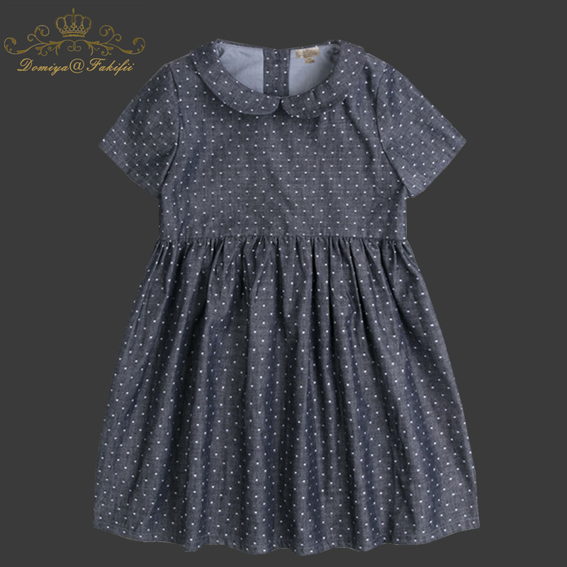 Summer Baby Dress For Girl Short Sleeve Princess Girls Dresses Polka Dot Little Baby Birthday Party Dress Casual Kids Clothes retail fashion summer girl dress sleeveless kids dresses for girl tutu party dress lace polka dot novatx brand girls clothes