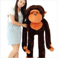 Kawaii 130 cm Dolması Peluş Oyuncak Dev Peluş Oyuncak Büyük Şempanze Doll Yumuşak Peluş Bebek Sevgililer Günü Doğum Günü Için Kızların Brinquedos
