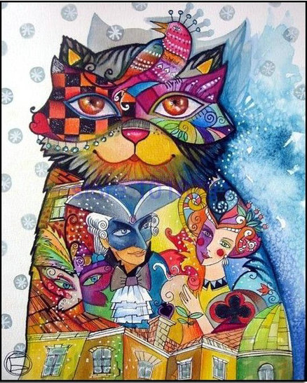Hot colorful cat Diy 5D diamond painting cross stitch all diamond embroidery home decoration round drill